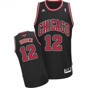 Maillot NBA Chicago Bulls #12 Kirk Hinrich Noir Adidas Swingman Alternate - Homme