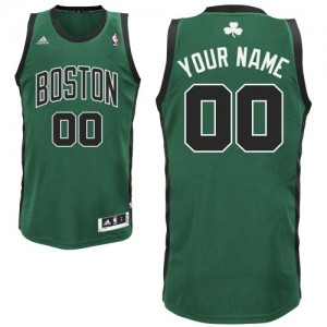 Maillot Adidas Vert (No. noir) Alternate Boston Celtics - Swingman Personnalisé - Homme