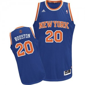 New York Knicks #20 Adidas Road Bleu royal Swingman Maillot d'équipe de NBA Promotions - Allan Houston pour Homme