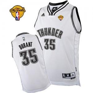 Oklahoma City Thunder #35 Adidas Finals Patch Blanc Swingman Maillot d'équipe de NBA en ligne pas chers - Kevin Durant pour Homme