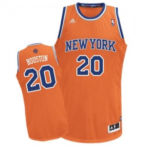 Maillot NBA Orange Allan Houston #20 New York Knicks Alternate Swingman Homme Adidas