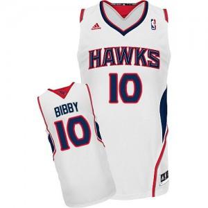 Atlanta Hawks Mike Bibby #10 Home Swingman Maillot d'équipe de NBA - Blanc pour Homme