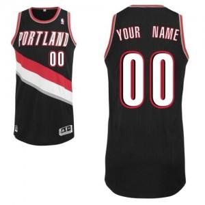 Maillot NBA Authentic Personnalisé Portland Trail Blazers Road Noir - Enfants