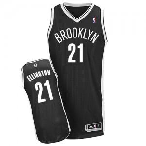 Maillot NBA Noir Wayne Ellington #21 Brooklyn Nets Road Authentic Homme Adidas