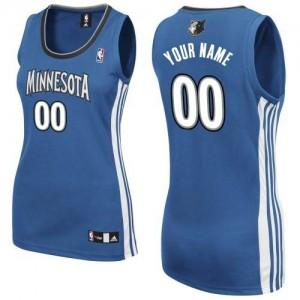 Minnesota Timberwolves Authentic Personnalisé Road Maillot d'équipe de NBA - Slate Blue pour Femme