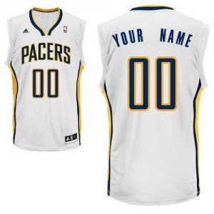 Maillot NBA Blanc Swingman Personnalisé Indiana Pacers Home Homme Adidas