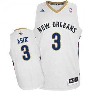 New Orleans Pelicans #3 Adidas Home Blanc Swingman Maillot d'équipe de NBA en ligne - Omer Asik pour Homme