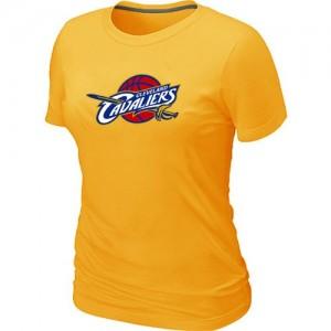Cleveland Cavaliers Big & Tall Tee-Shirt d'équipe de NBA - Jaune pour Femme