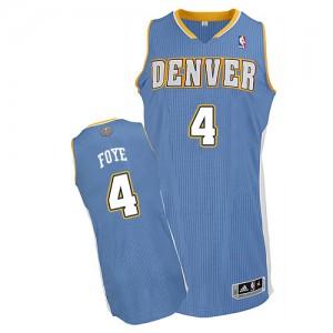Denver Nuggets #4 Adidas Road Bleu clair Authentic Maillot d'équipe de NBA Vente - Randy Foye pour Homme