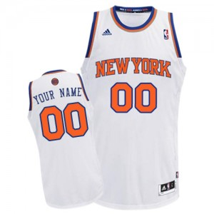 Maillot NBA Blanc Swingman Personnalisé New York Knicks Home Homme Adidas