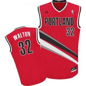Portland Trail Blazers #32 Adidas Alternate Rouge Swingman Maillot d'équipe de NBA la vente - Bill Walton pour Homme