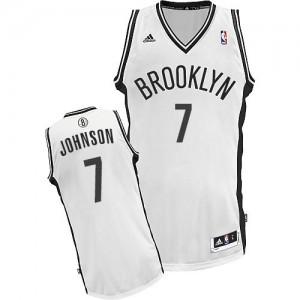 Brooklyn Nets #7 Adidas Home Blanc Swingman Maillot d'équipe de NBA prix d'usine en ligne - Joe Johnson pour Homme