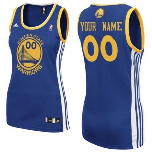 Maillot NBA Bleu royal Swingman Personnalisé Golden State Warriors Road Femme Adidas