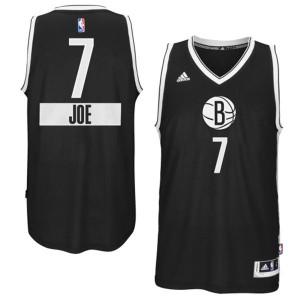 Maillot NBA Noir Joe Johnson #7 Brooklyn Nets 2014-15 Christmas Day Swingman Homme Adidas