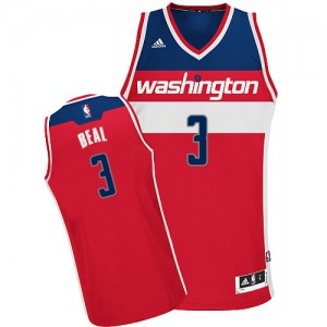 Maillot NBA Washington Wizards #3 Bradley Beal Rouge Adidas Swingman Road - Homme