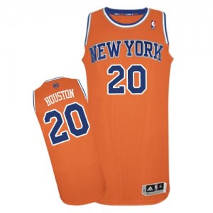 Maillot NBA Orange Allan Houston #20 New York Knicks Alternate Authentic Homme Adidas