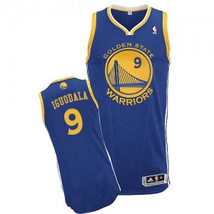 Maillot Adidas Bleu royal Road Authentic Golden State Warriors - Andre Iguodala #9 - Homme