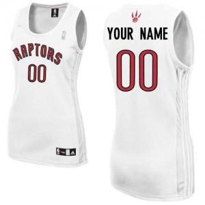 Maillot NBA Toronto Raptors Personnalisé Authentic Blanc Adidas Home - Femme