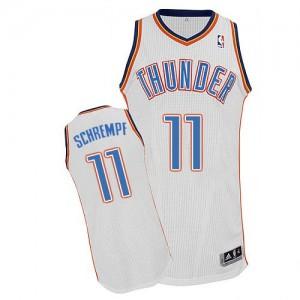 Oklahoma City Thunder #11 Adidas Home Blanc Authentic Maillot d'équipe de NBA préférentiel - Detlef Schrempf pour Homme