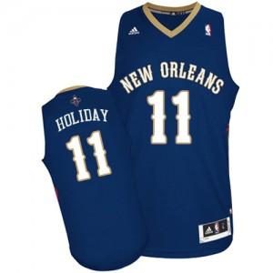 Maillot Swingman New Orleans Pelicans NBA Road Bleu marin - #11 Jrue Holiday - Homme