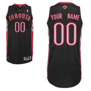 Maillot NBA Authentic Personnalisé Toronto Raptors Alternate Noir - Homme