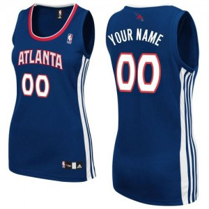 Maillot NBA Authentic Personnalisé Atlanta Hawks Road Bleu marin - Femme