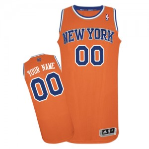 Maillot NBA New York Knicks Personnalisé Authentic Orange Adidas Alternate - Enfants