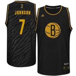 Maillot NBA Brooklyn Nets #7 Joe Johnson Noir Adidas Swingman Precious Metals Fashion - Homme