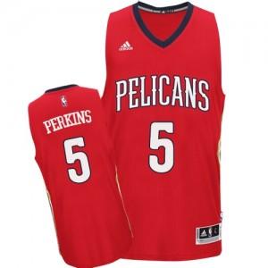 New Orleans Pelicans Kendrick Perkins #5 Alternate Swingman Maillot d'équipe de NBA - Rouge pour Homme
