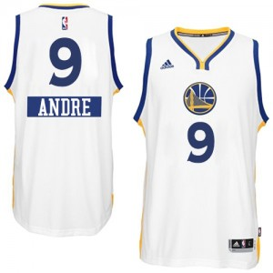 Maillot NBA Blanc Andre Iguodala #9 Golden State Warriors 2014-15 Christmas Day Authentic Homme Adidas