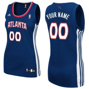 Maillot Atlanta Hawks NBA Road Bleu marin - Personnalisé Swingman - Femme