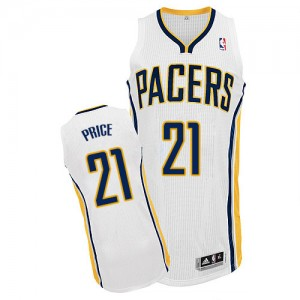 Maillot Authentic Indiana Pacers NBA Home Blanc - #21 A.J. Price - Homme