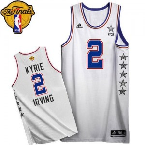 Maillot Swingman Cleveland Cavaliers NBA 2015 All Star 2015 The Finals Patch Blanc - #2 Kyrie Irving - Homme