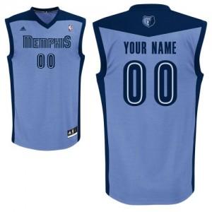 Memphis Grizzlies Personnalisé Adidas Alternate Bleu clair Maillot d'équipe de NBA pas cher - Swingman pour Homme