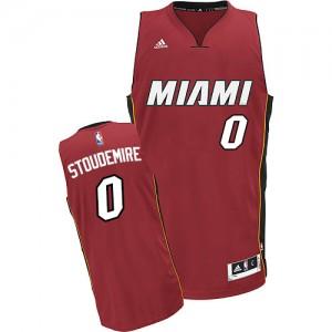 Maillot NBA Miami Heat #0 Amar'e Stoudemire Rouge Adidas Swingman Alternate - Homme