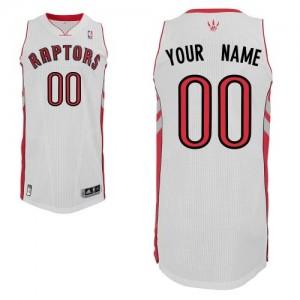 Toronto Raptors Authentic Personnalisé Home Maillot d'équipe de NBA - Blanc pour Homme