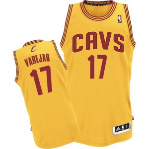 Maillot NBA Or Anderson Varejao #17 Cleveland Cavaliers Alternate Authentic Homme Adidas