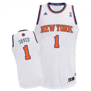 Maillot NBA Blanc Alexey Shved #1 New York Knicks Home Swingman Homme Adidas
