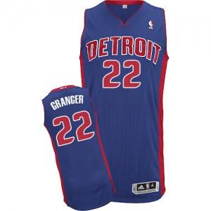 Maillot Adidas Bleu royal Road Authentic Detroit Pistons - Danny Granger #22 - Homme