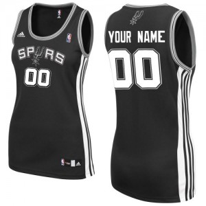 San Antonio Spurs Personnalisé Adidas Road Noir Maillot d'équipe de NBA pas cher en ligne - Swingman pour Femme