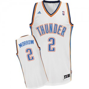 Oklahoma City Thunder Anthony Morrow #2 Home Swingman Maillot d'équipe de NBA - Blanc pour Homme