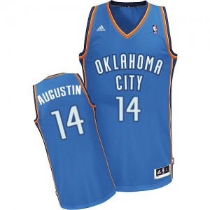 Maillot Swingman Oklahoma City Thunder NBA Road Bleu royal - #14 D.J. Augustin - Homme