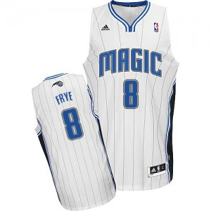 Orlando Magic Channing Frye #8 Home Swingman Maillot d'équipe de NBA - Blanc pour Homme