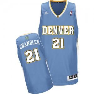 Maillot Adidas Bleu clair Road Swingman Denver Nuggets - Wilson Chandler #21 - Homme