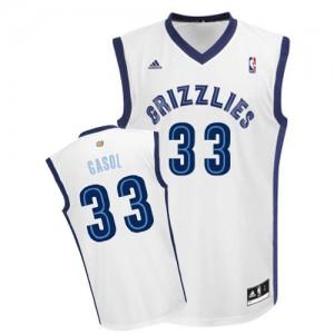 Memphis Grizzlies Marc Gasol #33 Home Swingman Maillot d'équipe de NBA - Blanc pour Homme