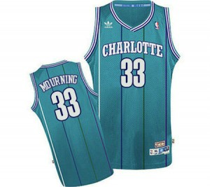 Maillot Swingman Charlotte Hornets NBA Throwback Bleu clair - #33 Alonzo Mourning - Homme