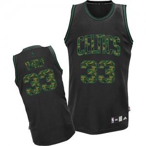 Maillot NBA Camo noir Larry Bird #33 Boston Celtics Fashion Authentic Homme Adidas