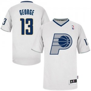 Maillot NBA Swingman Paul George #13 Indiana Pacers 2013 Christmas Day Blanc - Homme