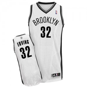 Maillot Adidas Blanc Home Authentic Brooklyn Nets - Julius Erving #32 - Homme