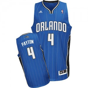 Orlando Magic Elfrid Payton #4 Road Swingman Maillot d'équipe de NBA - Bleu royal pour Homme